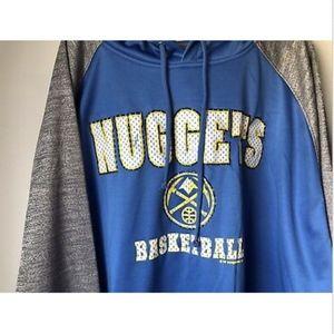 Majestic Shirts - NWT Majestic NBA Denver Nuggets Hooded Sweatshirt